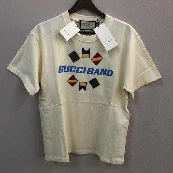 "Gucci Other - Gucci Band Men White T-Shirt ""XXL"""